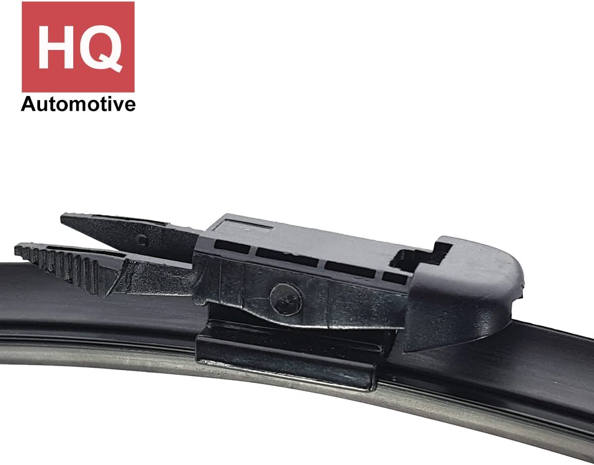 Set of Front Frameless Flat Aero Wiper Blades HQ Automotive AD51-823 Twin Box