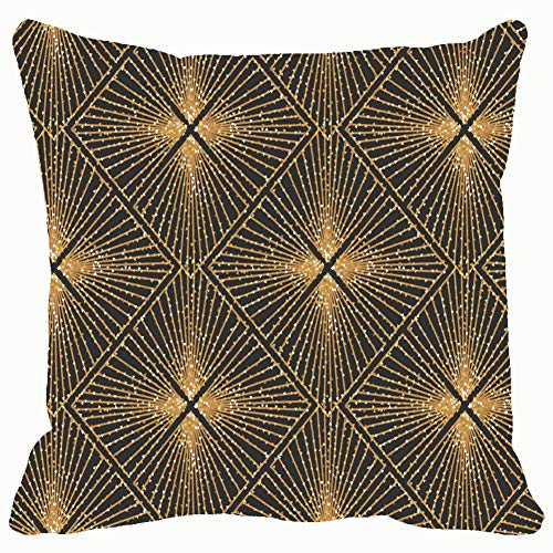 - Throw Pillow Covers Art Deco Geometric Elegant Vintage Wallpaper Decorative Cushion Case for Sofa Bedroom Car 18 X 18 Inch 45 X 45 cm