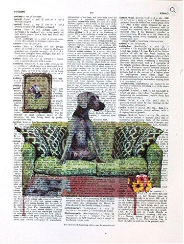 Original Dog Pop Art - Art N Wordz Dog And Pony Show Great Dane Original Dictionary Sheet Pop Art Wall or Desk Art Print Poster