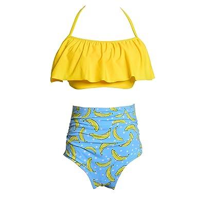22186c7bcc00 Tsuger Bikini Mujer Sexy Push Up Bañador Cintura Alta Traje 2 Piezas ...