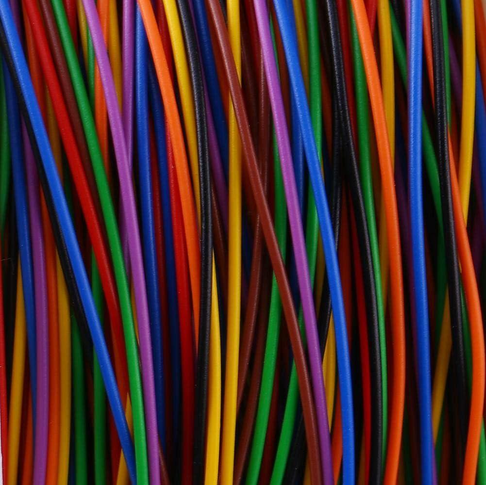Zhoul color/é P//N B-30-1000 280M 8 fils couleur isolation emballage c/âble de Test en cuivre pi/èce dordinateur portable accessoire outil