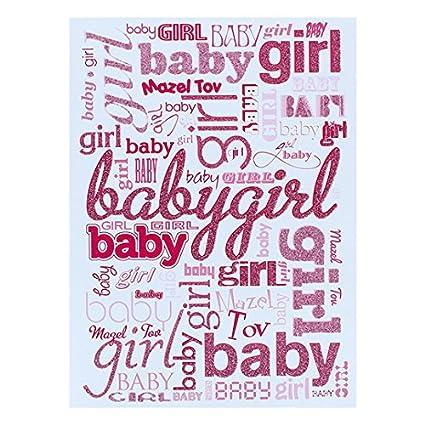 Jewish Mazel Tov New Baby Girl Greeting Card And