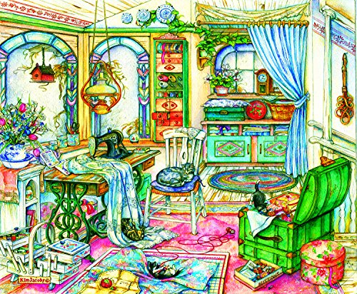 My Sewing Room 1000 Piece Jigsaw Puzzle by SunsOut (Kim Jacobs Calendar)