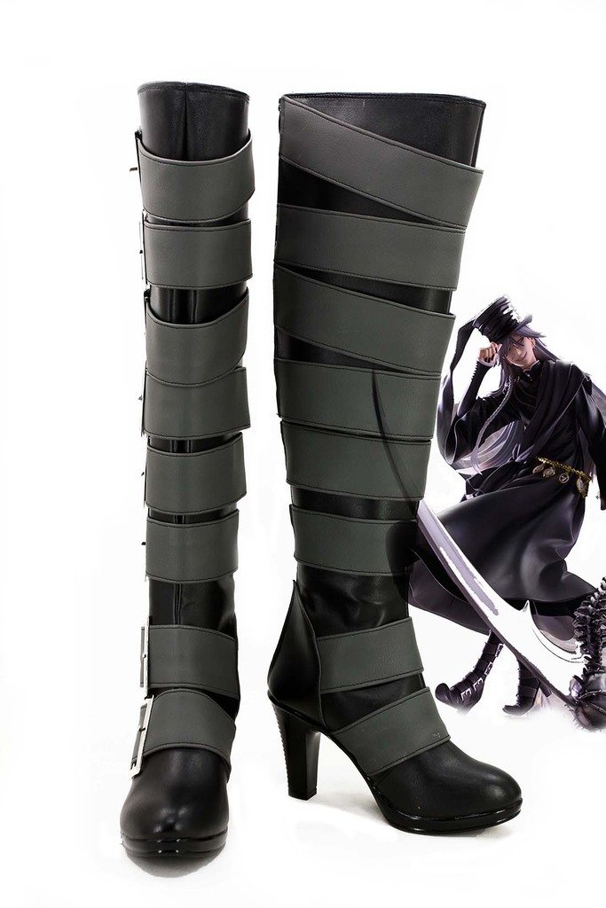 Telacos Black Butler Kuroshitsuji Undertaker Cosplay Shoes Boots Custom Made 2 by Telacos