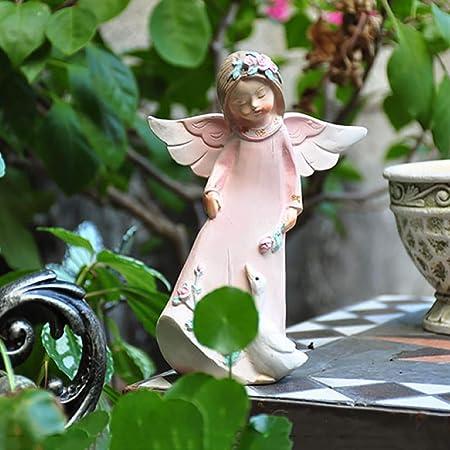 Estatua del ángel De Hadas Figuras Patio Jardín De Césped Ángel Ornamento Flor Estatua De Hadas,FeedGoose+17CM: Amazon.es: Hogar