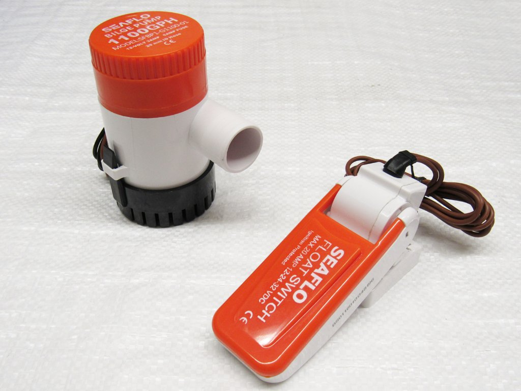 Bilge-Tauchpumpe mit automatischem Schwimmerschalter, 5000 l/h ...