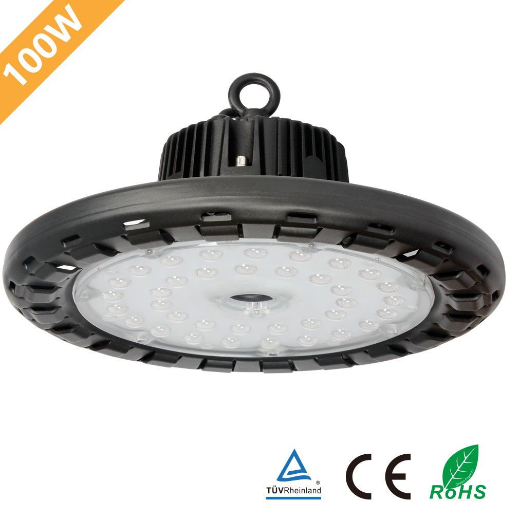 Anten 100W UFO LED High Bay Light Natural-White (4250K) with Mount Bracket, 14000Lm IP65 Waterproof Ultra Efficient, Indoor/ Outdoor Super Bright Commercial Lighting by Anten (Image #1)