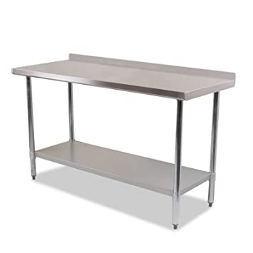 DIRTY PRO TOOLS Stainless Steel Commercial Catering Table Ft X Ft - 5 ft stainless steel table