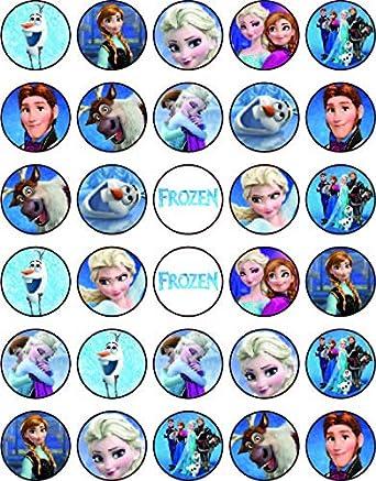 Cupcake Toppers Frozen Elsa /& Ana  Cartoon 7 Inch Edible Image Cake
