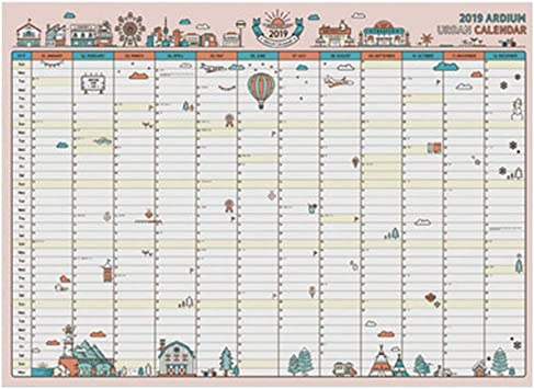Calendarios de Escritorio Calendarios 2019 365 Days Paper Calendar ...
