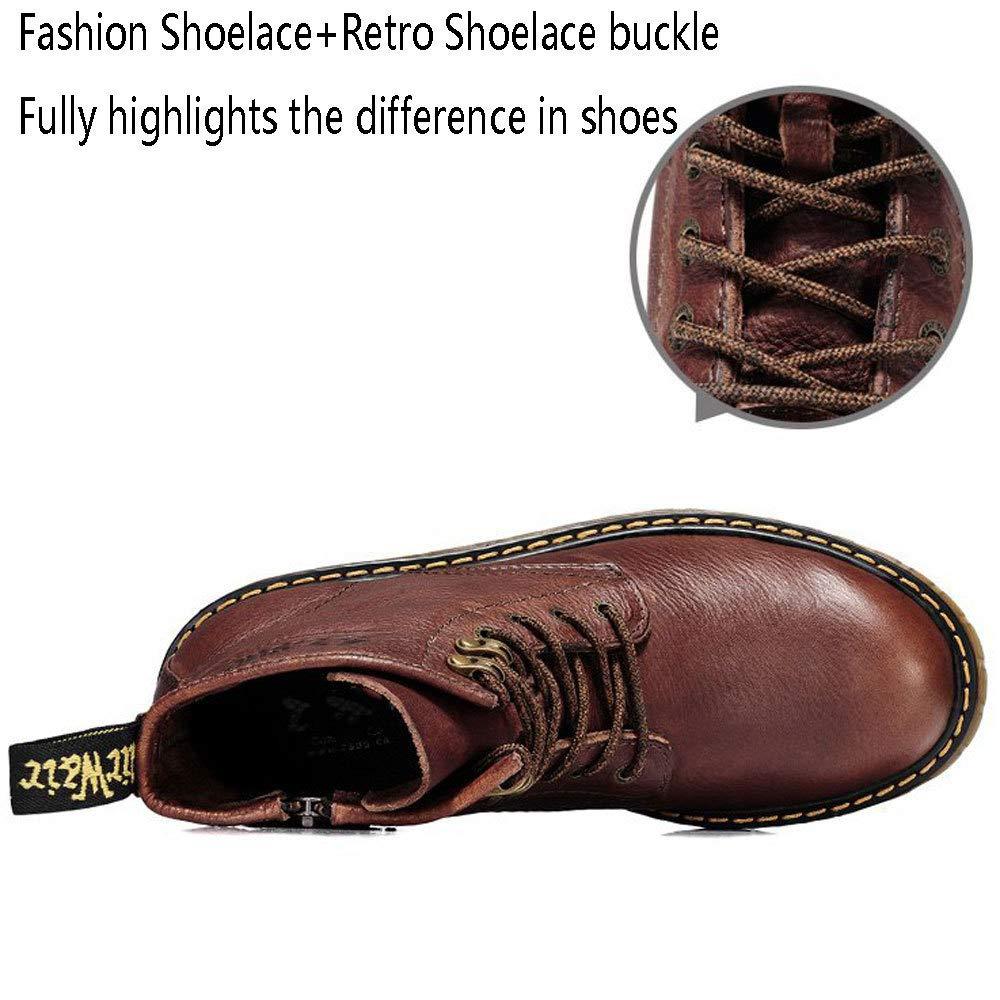 CXGH Schuhe Herren Martin Stiefel Stiefel Stiefel Herbst Und Winter Outdoor Atmungsaktives Werkzeug Leder Stiefel Rutschfeste Mode High-Top Schuhe Echtes Leder,schwarz-39 0136ab