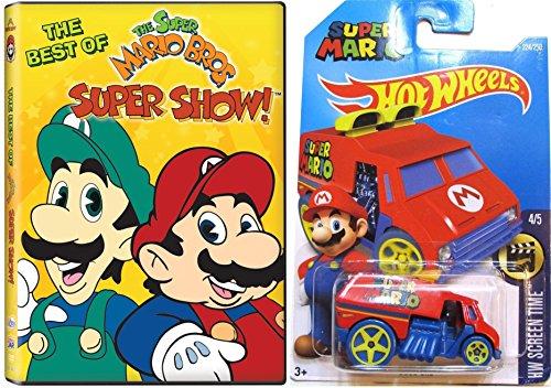The Best of the Super Mario Bros Super Show! w/ Hot Wheels Cool One Super Mario Car 1:64 Die Cast Car (Best Of Show Diecast)