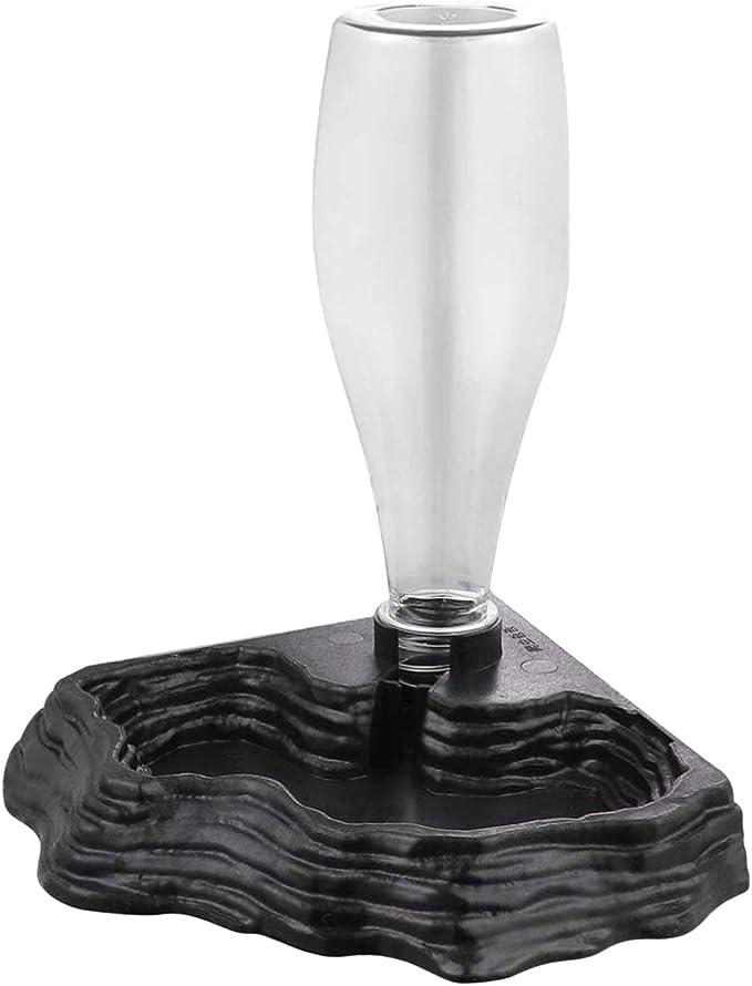 Fanuse Alimentador de Agua de Reptiles Dispensador de Agua AutomáTico Accesorios de AlimentacióN de Bebederos para la Rana Tortuga Dragones Lagartos Geckos para Tanque de Terrario