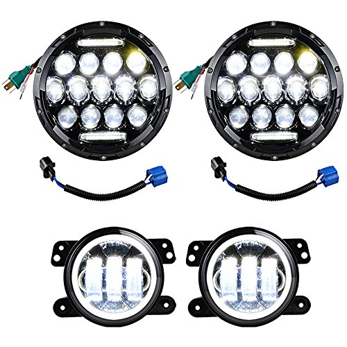 2X 7 Inch Projector Philips LED Headlights DRL