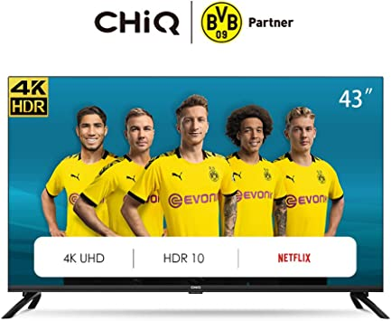 CHiQ Televisor Smart TV LED 43 Pulgadas 4K UHD, HDR 10/HLG, WiFi ...