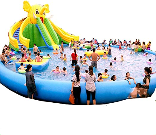 YUHAO(UK) piscina inflable gigante - familia y niños inflable rectangular piscina (10x10x0.6): Amazon.es: Hogar