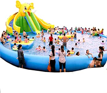 Swimming pool Piscina Inflable Gigante YUHAO(UK) - Piscina Rectangular Inflable para Familia y niños: Amazon.es: Jardín