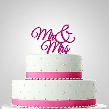 In Due Tortendekoration Zur Hochzeit Tortenfigur Mr Mrs Pink
