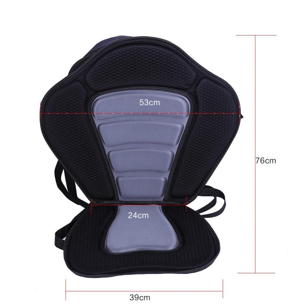 Dioche Kayaking Seat Comfortable Padded Kayak Seat+Detachable Canoe Backrest Sit Bag