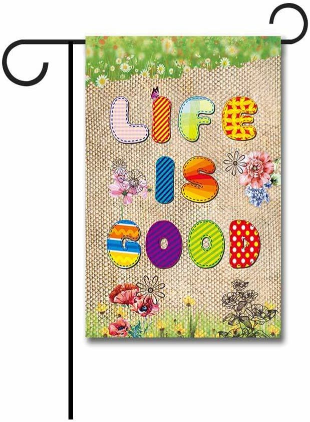 KafePross Welcome Summer Life is Good Garden Flag 12.5 X 18 Inch Printed Double Sided