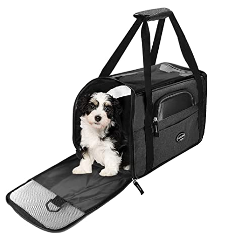 Wanfei transportin Perro,Transportín Perro Gato Transpirable Plegable Pet Carrier Impermeable Bolso de Hombro Acolchado