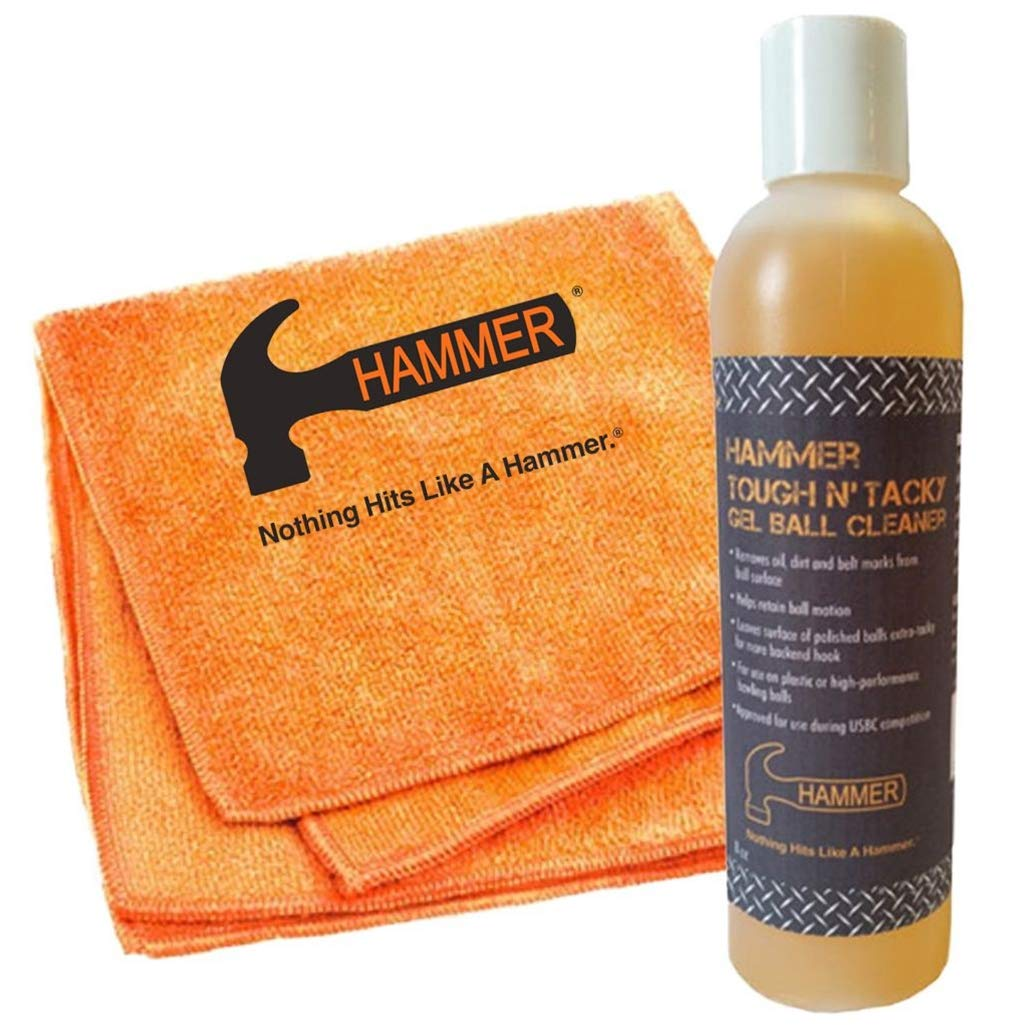 Hammer Tough and Tacky Ball Cleaner- 8 oz Bottle with Towel by Hammer