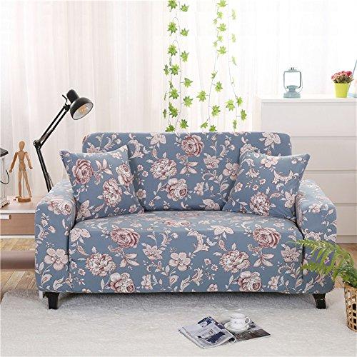 (KFHIWUEHPJHD European Elastic slipcover,All Cover Sofa Anti-Slip Floral Printed Sofa Cover Furniture Protector for 1 2 3 4 Cushions Sofa-V Loveseats)
