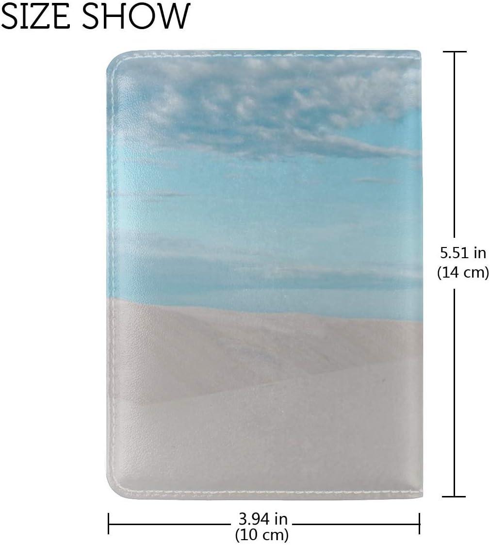 Desert Dunes Minimalism Leather Passport Holder Cover Case Travel One Pocket