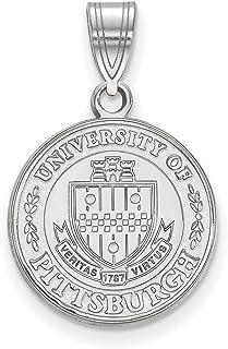 Lex & Lu Logoart argento Sterling università di Pittsburgh Medium Crest Pendant