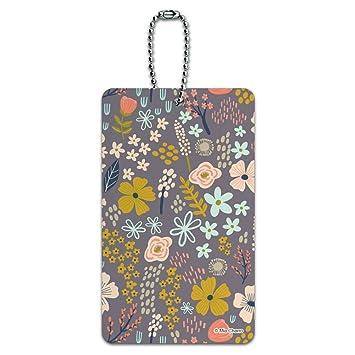 Amazon.com: Mimi Flores Floral Jardín equipaje tarjeta ...