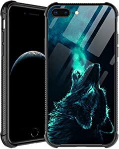 iPhone SE 2020 Case,Lonely Wolf iPhone 8 Case,for Men Boys iPhone 7 Cases,Shockproof Anti-Scratch Soft TPU Pattern Design Case for Apple iPhone 7/8/SE 2 4.7-inch Lonely Wolf