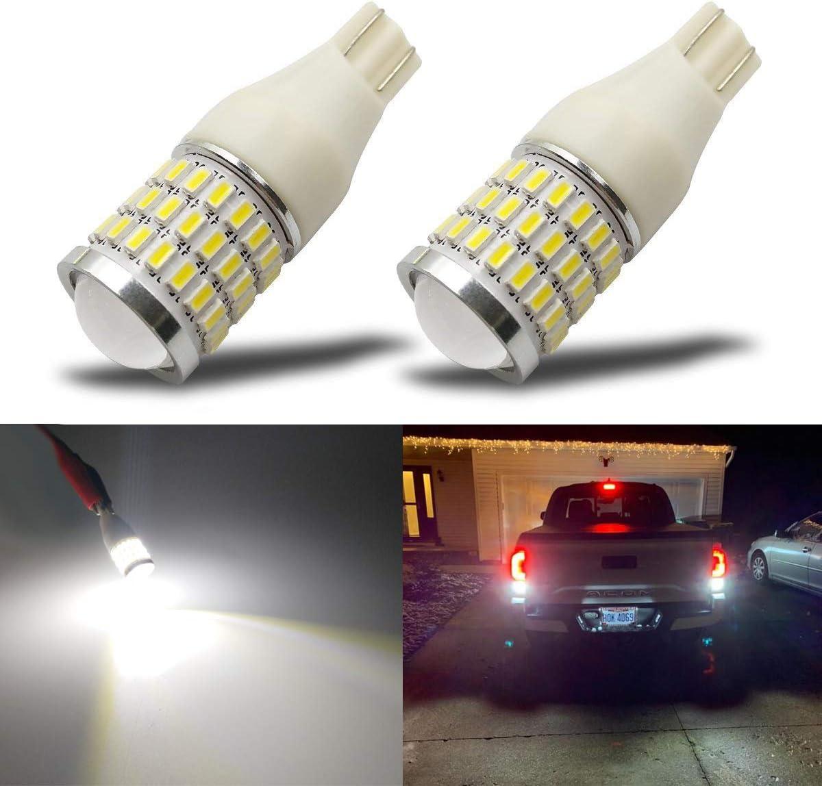 1-4pc Super White T15 912 921 W16W 15-SMD 5050 LED Backup Lights 7W Reverse Bulb