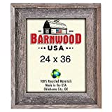 BarnwoodUSA Rustic Farmhouse Signature Picture Frame – Our 24×36 Picture Frame can be Mounted Horizontally or Vertically and is Crafted from 100% Recycled and Reclaimed Wood | No Assembly Required For Sale