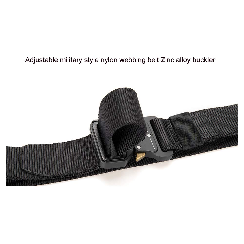 Heavy Duty Webbing Belt Adjustable Military Style Nylon Belts Haowen Mens Tactical Rigger Belt