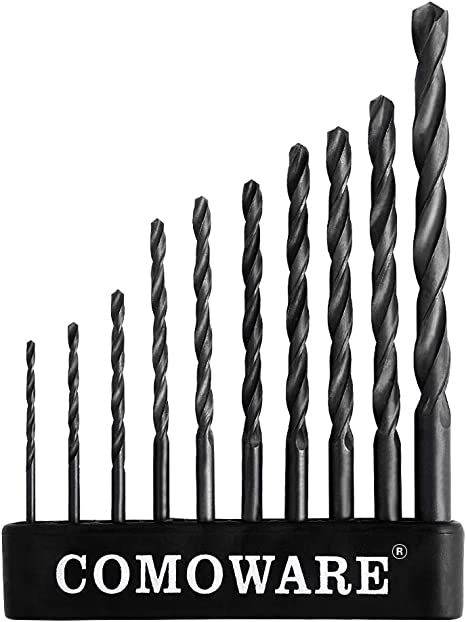 Black and Gold Finish home Round Shank general building and engineering using Otul 12pcs 3//32 inch x 2-1//4 inch M2 Drill Bits Ideal for DIY Jobber Length High Speed Steel Twist Drill Bits