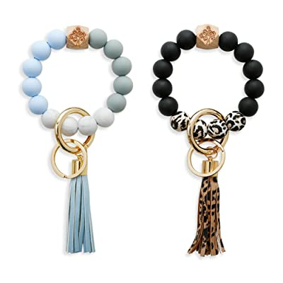 Silicone Bracelet KeyringBangle Keychain By The Blue Peach