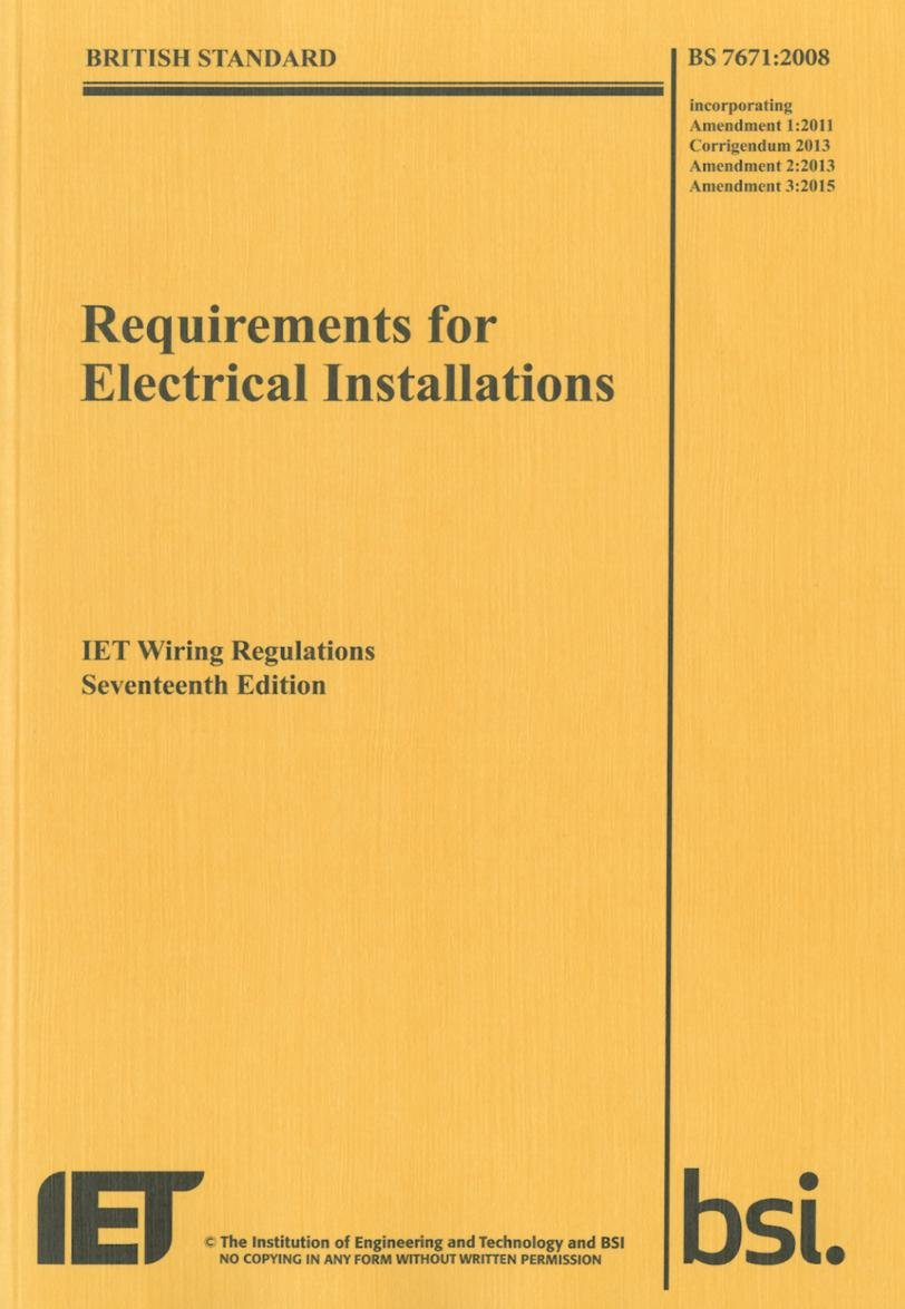 Wondrous Requirements For Electrical Installations Iet Wiring Regulations Wiring Database Wedabyuccorg