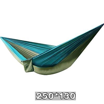 Hamac extérieur Hamac léger en toile de parachute Hamac extérieur simple hamac de camping (250 * 130CM) XQQQ