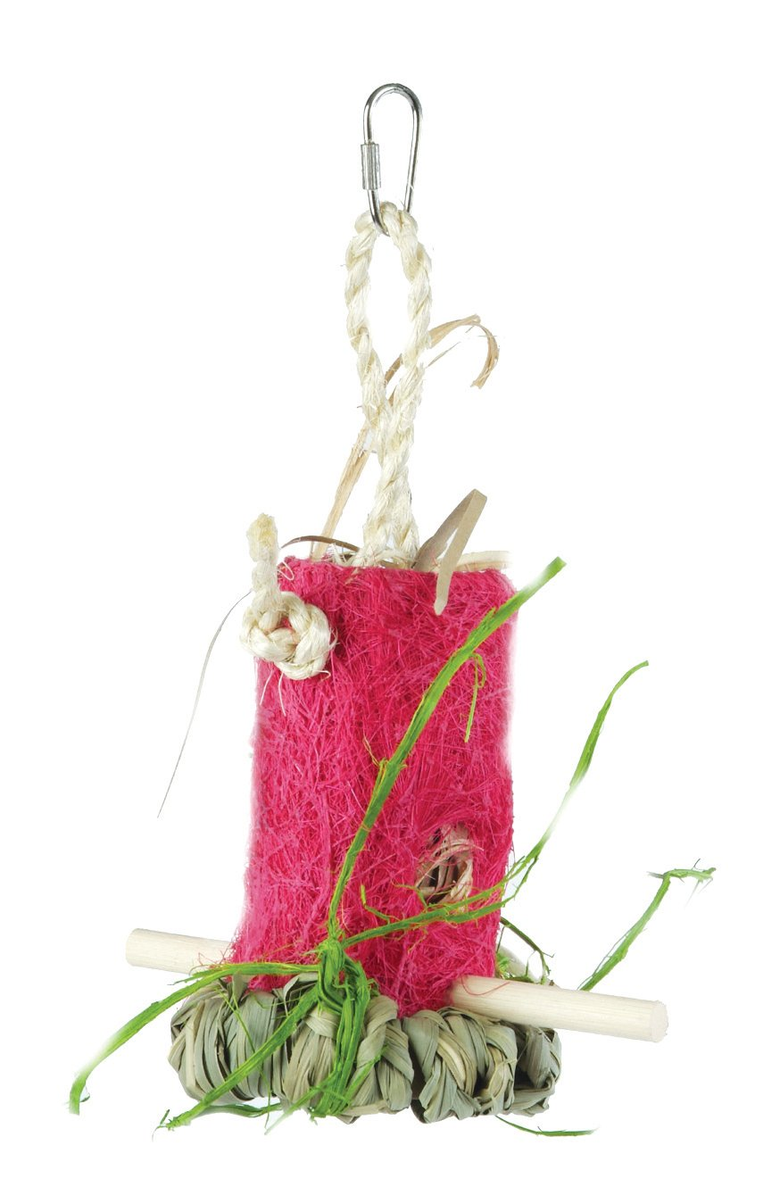 Prevue Pet Products BPV62408 Tropical Teasers Coconut Fiber Bird Toy, Shreddable Shack, Assorted colors