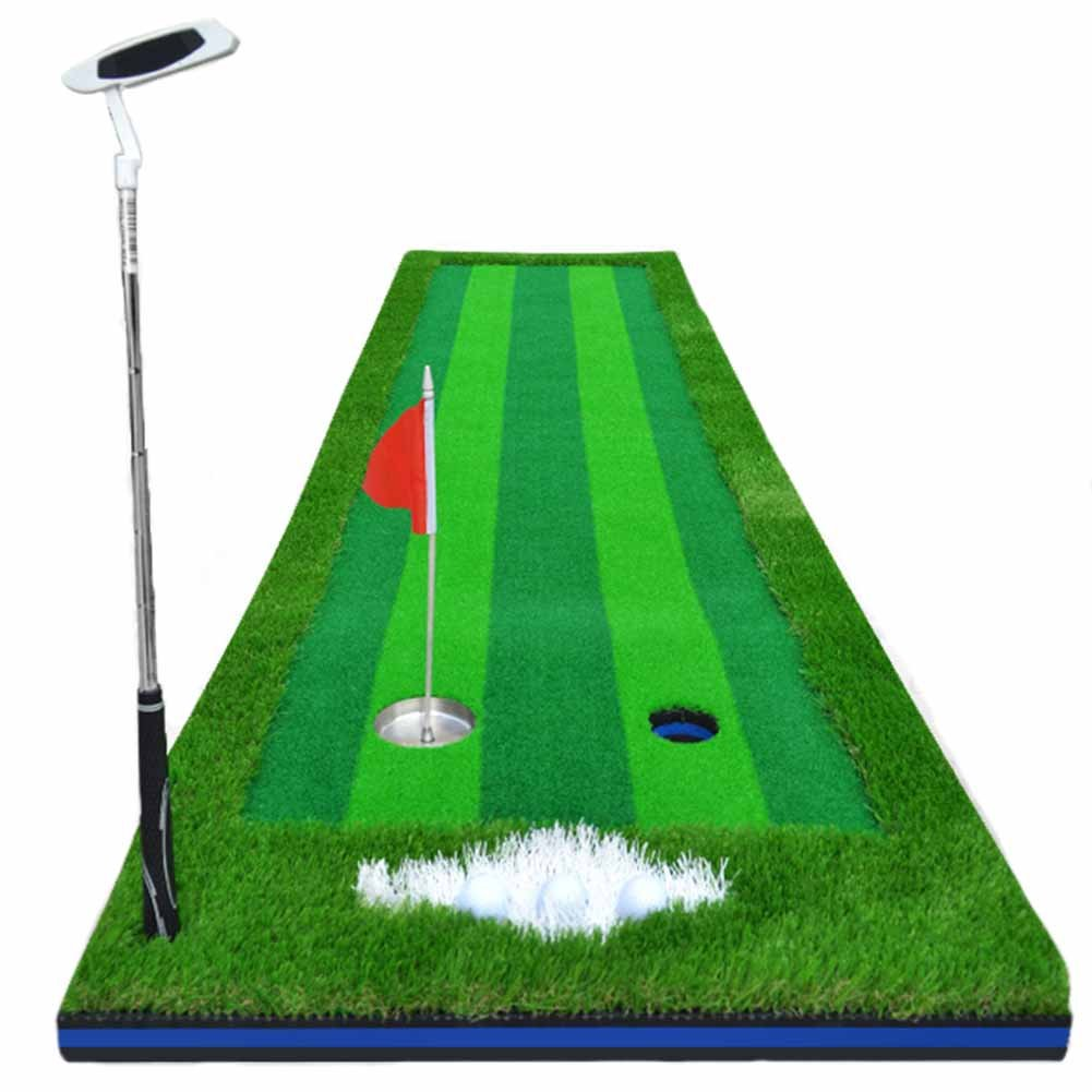 crestgolf Golf Putting Mat Driving範囲マットPutting Trainer 2.46 ftx9.84ft ( Clubsは含まれていません)   B01N5LWK5P