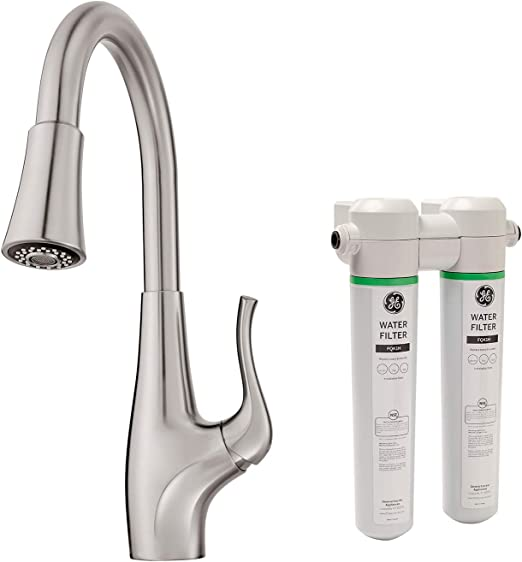 Pfister F529fcys Clarify Xtract Pull Down Kitchen Faucet With Integrated Ge Filtration System Stainless Steel Amazon Com