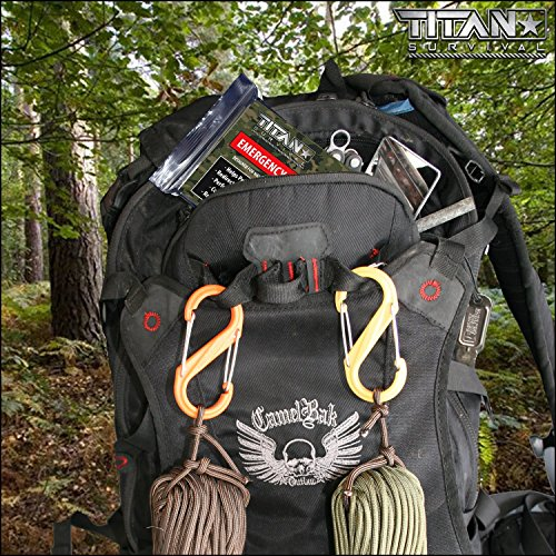 TITAN Two-Sided Emergency Mylar Survival Blankets, 5-Pack | Forest Camo (27-000003)