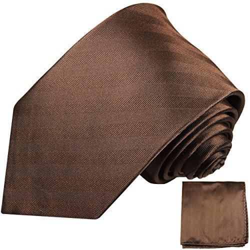 Cravate homme marron uni rayée ensemble de cravate 2 Pièces ( longueur 165cm )