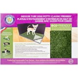 "Indoor Turf Dog Potty Classic Premier Connectable 16""X24""-With Pad/Hike Shield"