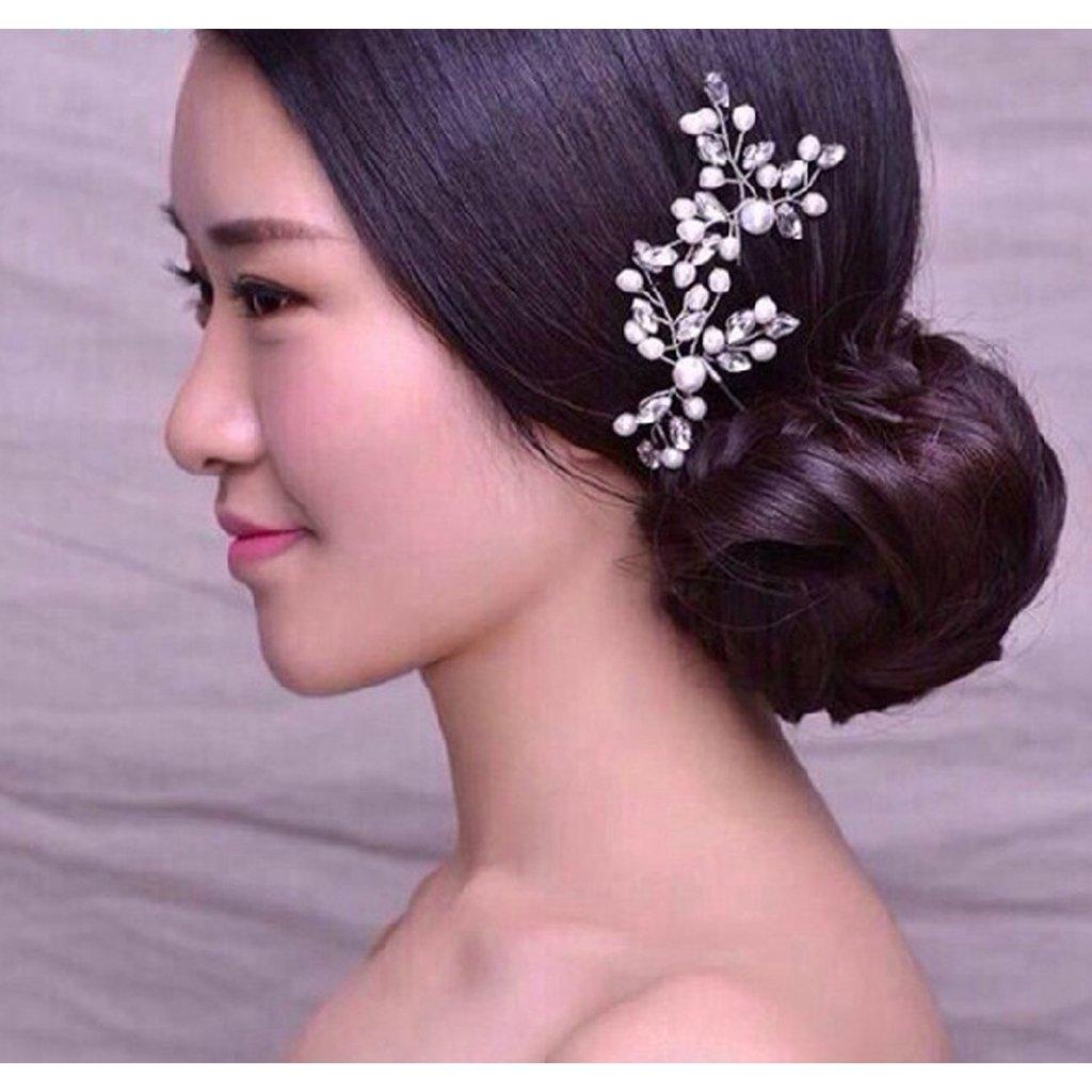Yoli Lunji /Épingle /à Cheveux Femme Mariage Perle en /épingle Broche Cheveux Mariage 8x10.5cm
