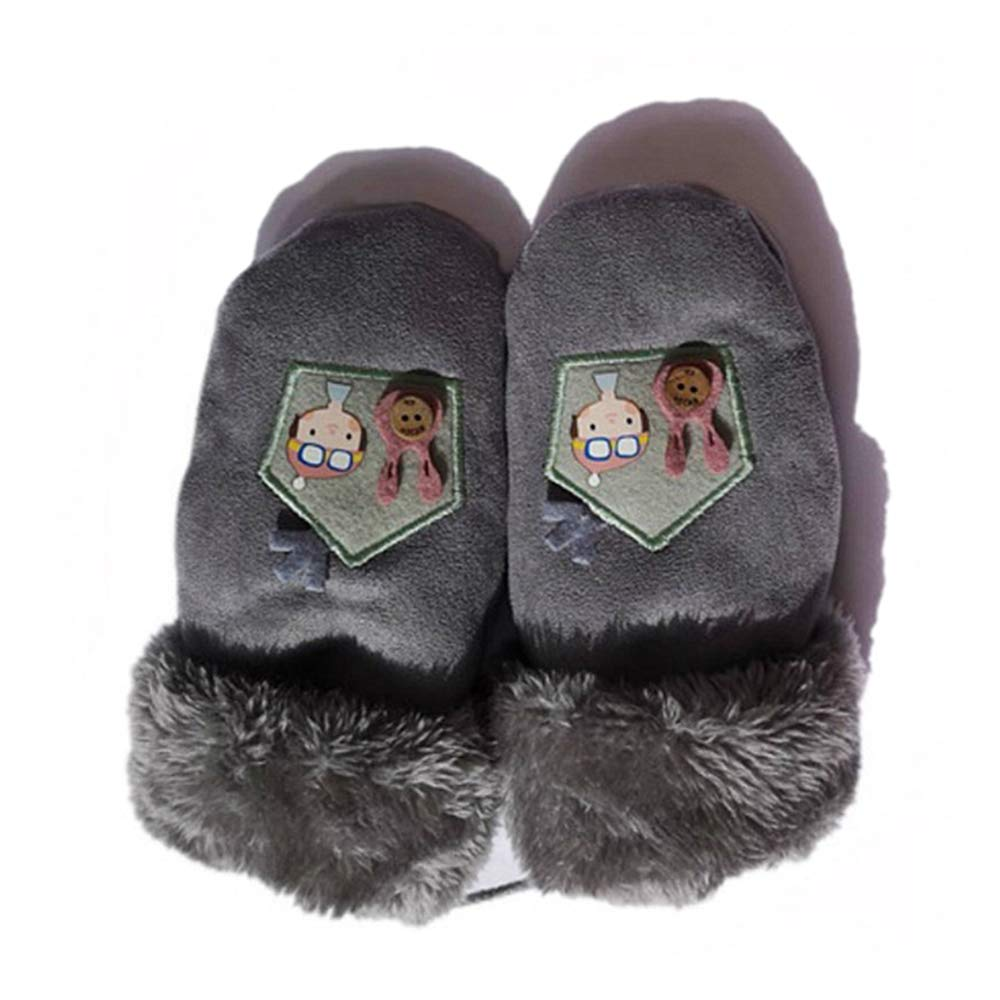 Children Cold Winter Cute Cartoon Soft Warm Mitten Woollen Gloves