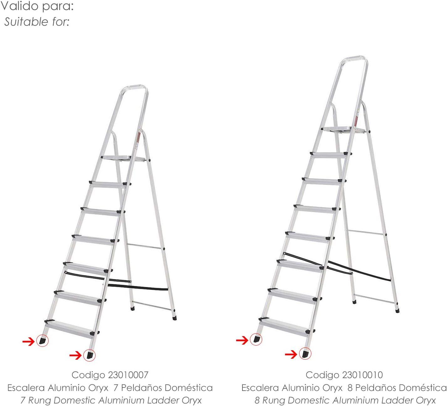ORYX 23010060 Contera Escaleras Aluminio Delantera de 7 y 8 ...