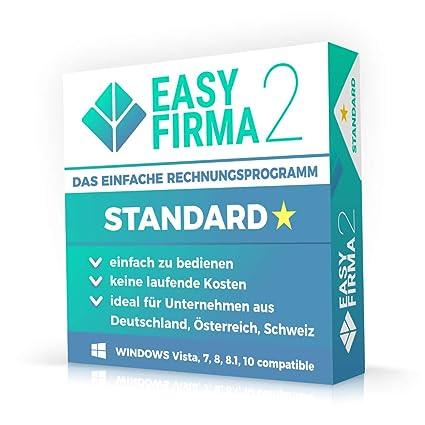 3244bb7d617949 EasyFirma 2 Standard - Rechnungsprogramm für Kleinunternehmer und  Handwerker. Rechnungen