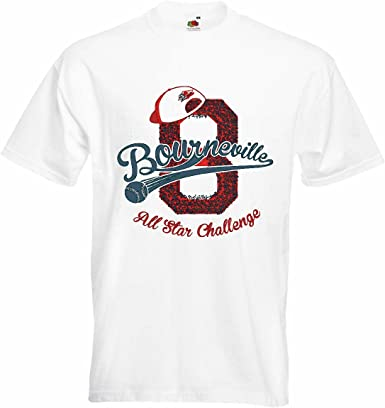 T-Shirt Camiseta Remera Bourne Ville béisbol de All Star Reto béisbol Bate de béisbol Jugador de béisbol Equipo Camiseta béisbol en Blanco: Amazon.es: Ropa y accesorios