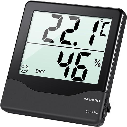 Digital termómetro higrómetro thermohygrometer min max clima interior bolsos de viaje